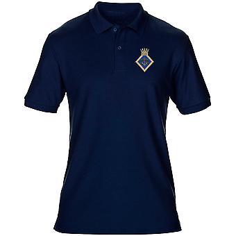 De Voorzitter van de HMS geborduurd Logo - officiële Koninklijke Marine heren Polo Shirt