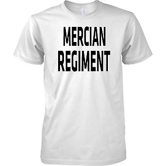 Licensed MOD -  British Army Royal Mercian Regiment - Text - Mens T Shirt
