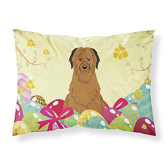 Easter Eggs Briard Brown Fabric Standard Pillowcase