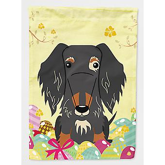 Easter Eggs Wire Haired Dachshund Dapple Flag Canvas House Size