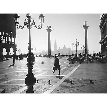 St Marks Square Venice Poster Print by Monochrome Gallery (31 X 23)