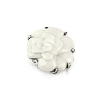 AZ collection women's ZS0062 white metal brooch