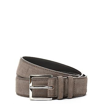 Orciani U07299TAUPE Brown mens leather belt