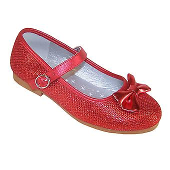 Girls sparkly red ballerina occasion shoes