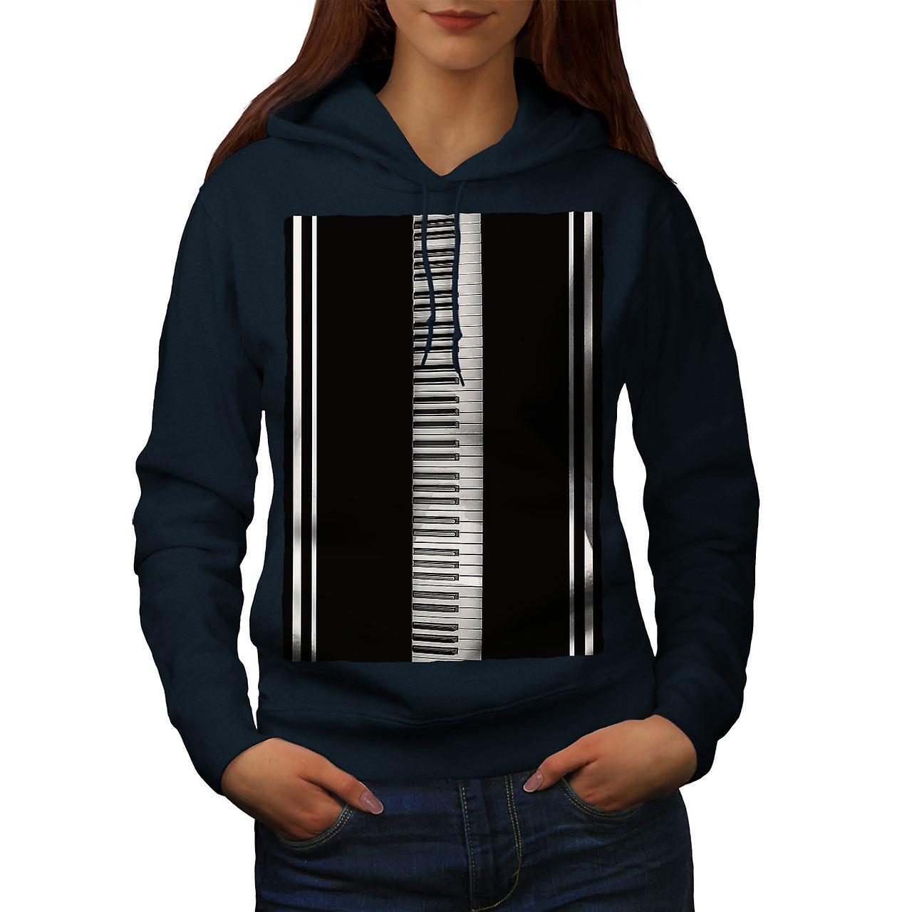 Touches du piano clavier NavyHoodie femmes