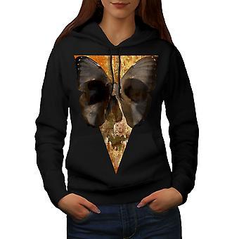 Schmetterling Gesicht Kunst Skull Frauen BlackHoodie | Wellcoda