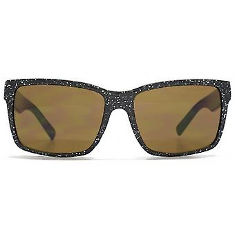 Monkey Monkey Childrens Leo Square Plastic Sunglasses In Black & White Speckle