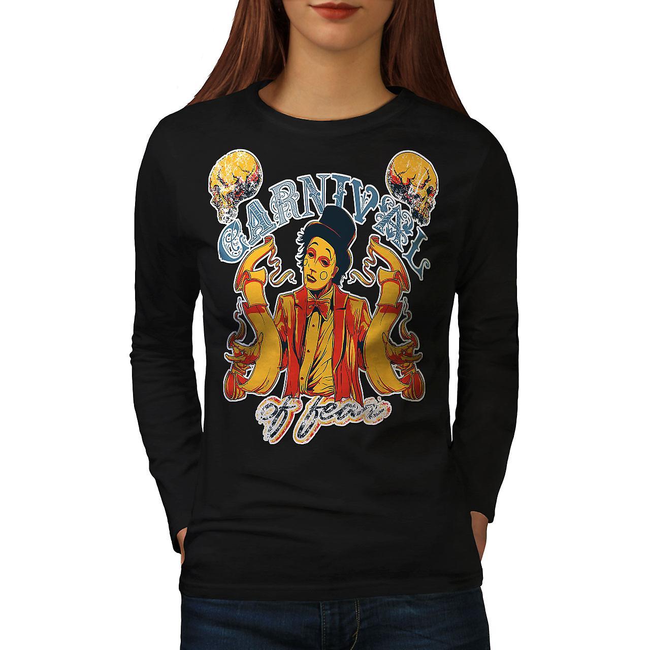 Karneval der Angst Horror Frauen BlackLong Sleeve T-shirt   Wellcoda