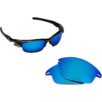 Best SEEK OPTICS Replacement Lenses for Oakley FAST JACKET Blue Mirror