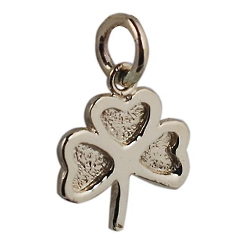 9ct Gold 13x13mm plain Shamrock Pendant or Charm