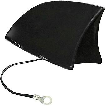 PVC Car shark fin antenna Black (W x H x D) 115 x 75 x 65 mm Euf