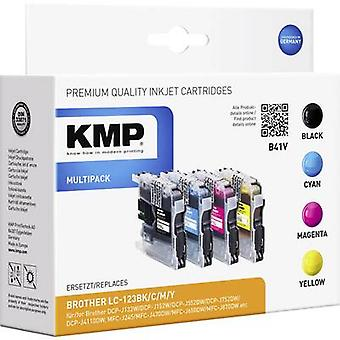 KMP Ink replaced Brother LC-123 Compatible Set Bla