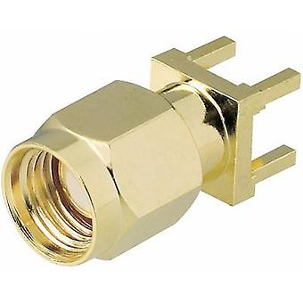 SMA reverse polarity connector Plug, vertical mount 50 Ω BKL Electronic