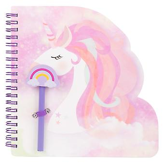 Unicorn Notebook and Pencil with Earaser Top Set Childrens Stationery