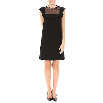 Pinko women's 1G12ML6338Z99 black viscose dress