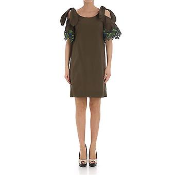 Pinko women's 1B131W5036X18 Brown cotton dress