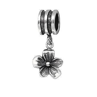 Blume - 925 Sterling Silber Plain Beads - W29558X