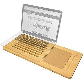 Woodquail Bamboo Laptop Fach Board mit integrierten Cork Pad (passt bis zu einem 17-Zoll-Laptop)