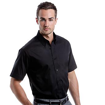 Kustom Kit Mens Tailored Fit Premium Oxford Shirt Short Sleeve