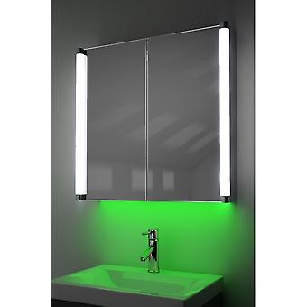 Demist Cabinet With LED Under Lighting, Sensor & Internal Shaver k317