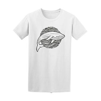 Whale Hand Draw Tee Men's -Image by Shutterstock