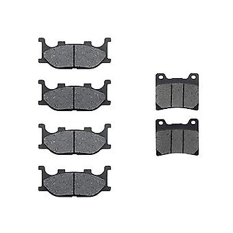 KMG 1999-2008 Yamaha XVS 1100 V-Star Custom Front + Rear Non-Metallic Organic NAO Brake Pads Set