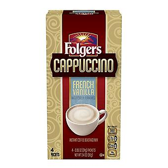 Folgers Cappuccino French Vanilla Instant Coffee Mix
