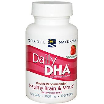 Nordic Naturals Daily DHA Strawberry 30 Softgels (Sport , Athlete's health , Omega 3-6-9)