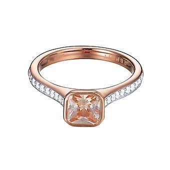 ESPRIT women's ring stainless steel Rosé cubic zirconia ESRG92817C1