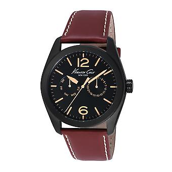 Kenneth Cole New York men's wrist watch analog leather 10018785 / KC8063