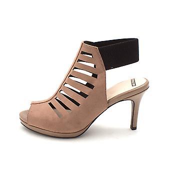 L S revolutie Womens verbazingwekkend stof Peep Toe Casual Slingback sandalen