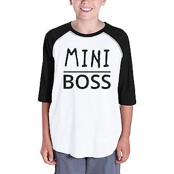 Мини-босс дети бейсбол рубашки для мальчиков смешное реглан тройник для девочек