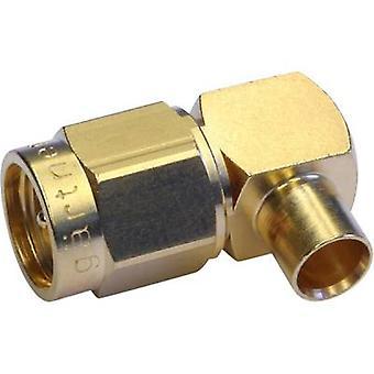 SMA connector Plug, right angle 50 Ω Telegärtner J01150A0151 1 pc(s)