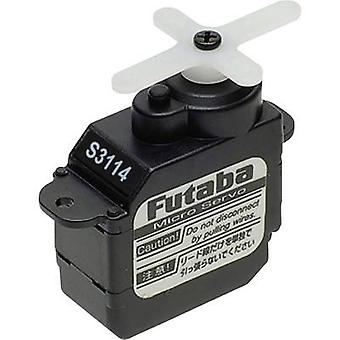 Futaba Micro servo S3114 Analogue servo Gear box material: Plastic Connector system: Futaba