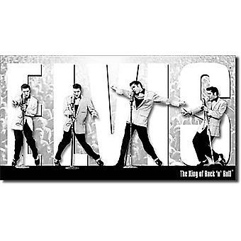 Elvis '' Montage'' Stahl Zeichen