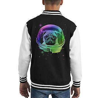 Space Pug Kid's Varsity Jacket