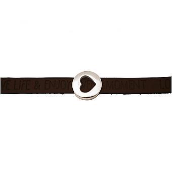 Bruin donker - magnetisch slot - armband - hart - liefde - WENSEN-