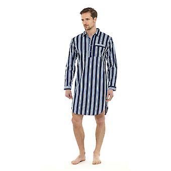 トム フランク メンズ起毛コットンのナイトシャツ ラウンジを着用します。