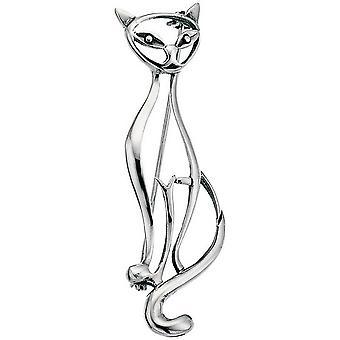 Beginnings Cat Brooch - Silver