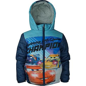 Boys HQ1236 Disney Cars Winter Hooded Jacket Size: 3-8 Years