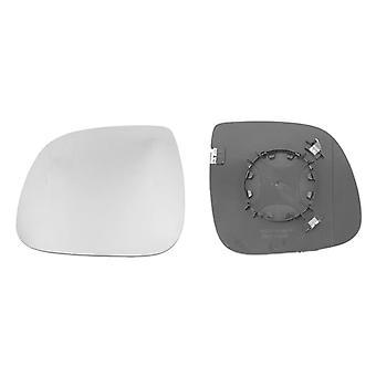 Left Mirror Glass (heated) & Holder for VW TRANSPORTER mk5 Flatbed 2010-2015