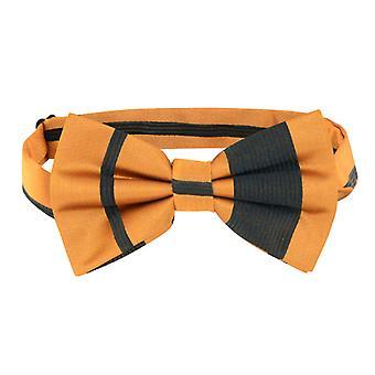 Vesuvio Napoli BOWTIE & Woven Striped Design Men's Bow Tie