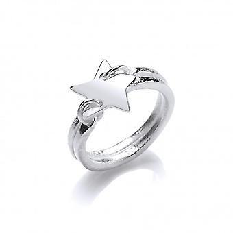 Cavendish French Silver 'Starry Night' Ring