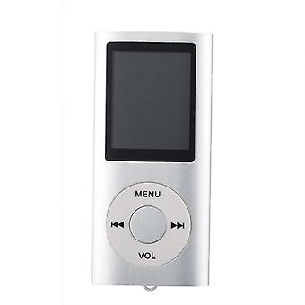 Slim MP3 Player with TF card and FM Radio Support-Silver