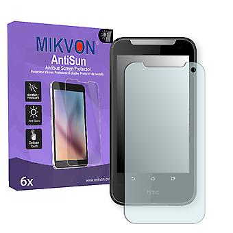 HTC Desire V1 Screen Protector - Mikvon AntiSun (Retail Package with accessories)