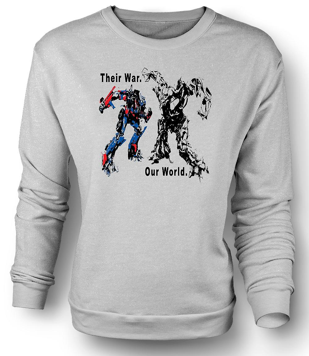 Mens Sweatshirt transformatorer krigen - Optimus Prime