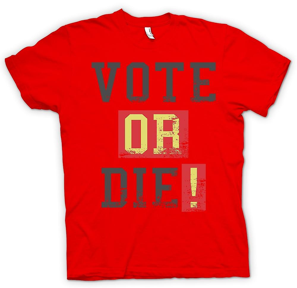 Mens T-shirt - Vote Or Die - Funny South Park Inspired