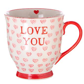 Sass & Belle Love You Valentines Hearts Mug