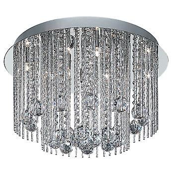 8088-8CC Beatrix Chrome and Crystal Halogen 8 Light Ceiling Light