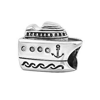 Cruise Ship - 925 Sterling Silver Plain Beads - W10520X